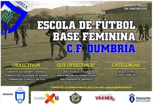 Escola de Futbol Base Feminino do CF Dumbria