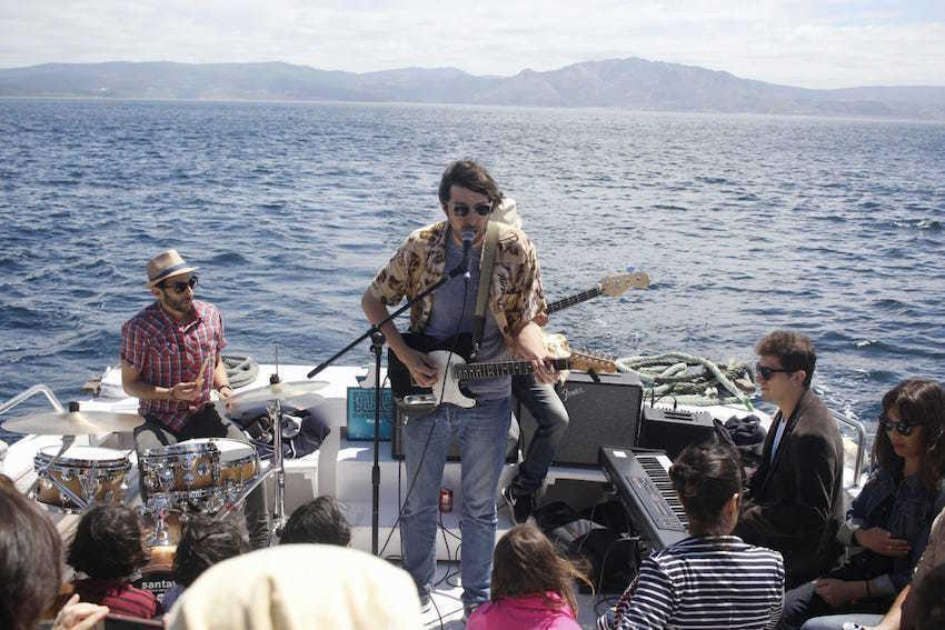 Concerto no barco do Fisterra Blues Experience