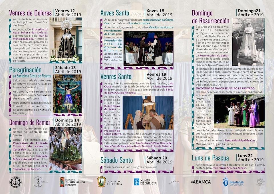 Programa de procesions da Semana Santa de Fisterra 2019