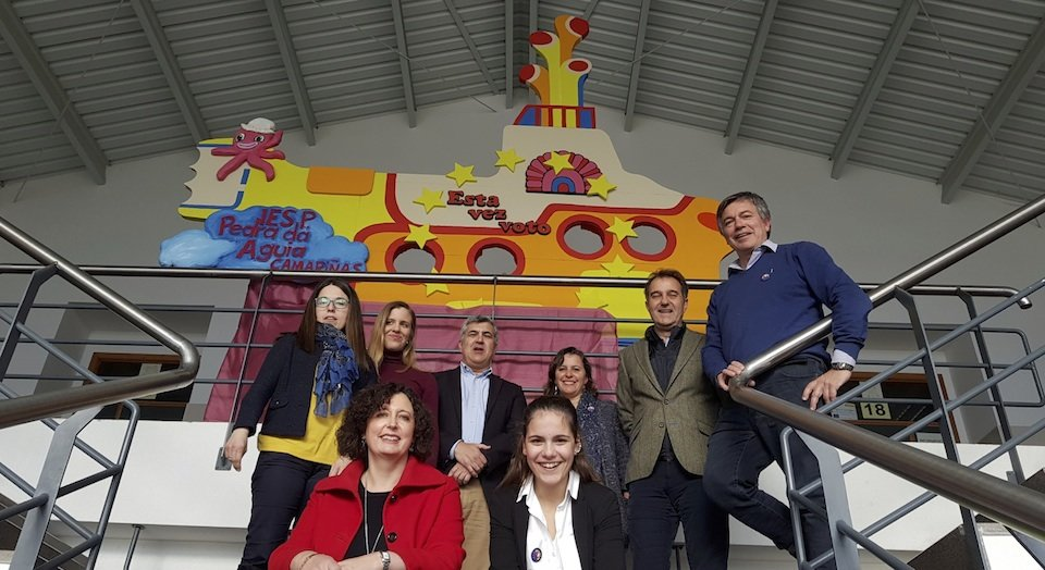 PHOTOCALL do Yellow Submarine do IES Pedra da Aguia da Ponte do Porto