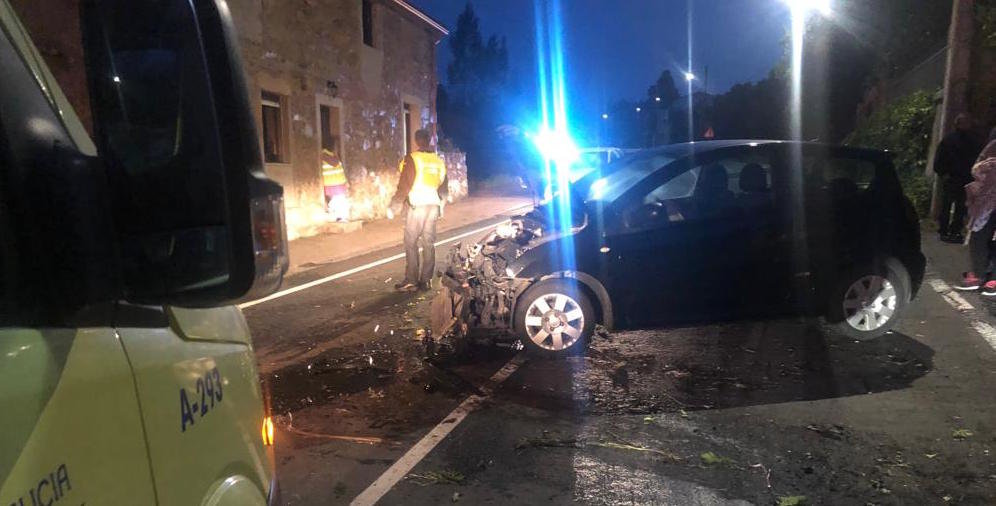 Accidente en Ponteceso e Cabana