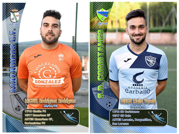 Miguel do Mazaricos e Diego Mallo do Coristanco os Premios Pombo do FutboldaCosta
