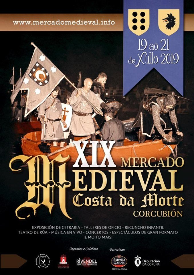 Cartel do XIX Mercado Medieval Costa da Morte 2019