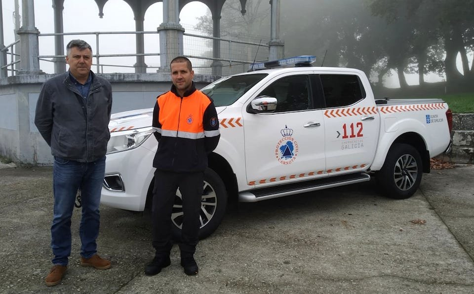foto entregar pick up Prot Civil Carnota